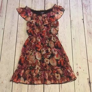 Sequin Hearts Floral design dress